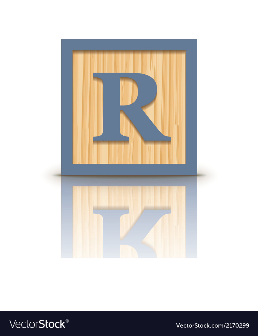 Letter r wooden alphabet block vector | Price: 1 Credit (USD $1)