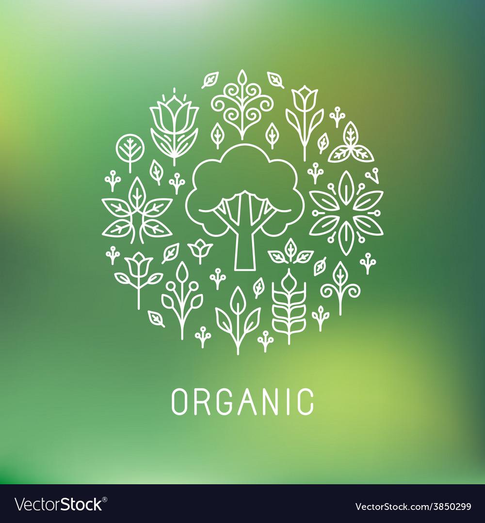 Organic logo vector | Price: 1 Credit (USD $1)