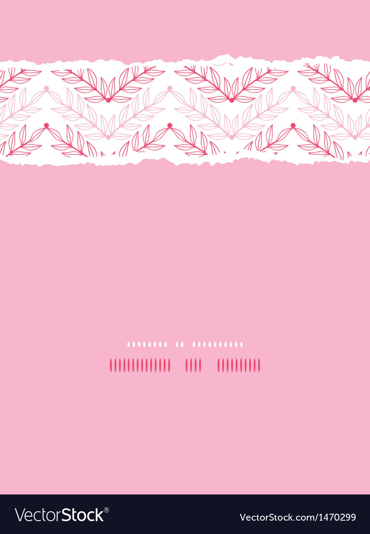 Pink lineart leaves chevron vertical torn seamless vector | Price: 1 Credit (USD $1)