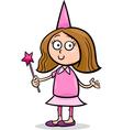 Girl in fairy costume cartoon vector