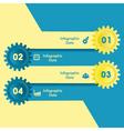 Creative gears info-graphics option banner vector