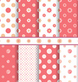 Cute baby patterns set - seamless girl pink vector
