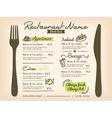 Restaurant placemat menu design template layout vector