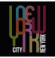 New york t-shirt typography graphics vector