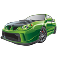 Green custom car vector