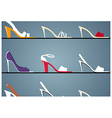Stiletto shop background vector