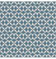 Blue retro seamless pattern on beige background vector