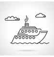 Cruise liner black icon vector