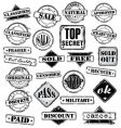 Sign stamps set vector