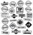 Sign stamps set vector