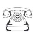Vintage phone with buttons dial ring vector
