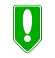Exclamation mark button vector