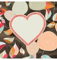 Flower heart for wedding or valentines day eps 8 vector