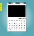March 2013 calendar vector