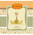 Baby shower card with baby giraffe vector