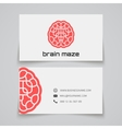 Business card template brain maze concept logo vector