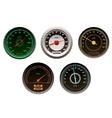 Racing cars speedometers set vector
