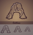 Halloween decorative alphabet - a letter vector