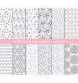 Set of leaf and flower seamless patterns vector