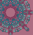 Circle lace hand-drawn abstract background vector