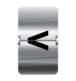 Alphabet silver flipboard letters less than vector