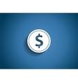Dollar glossy icon vector