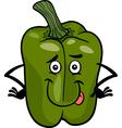 Cute green pepper cartoon vector