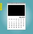 May 2013 calendar vector