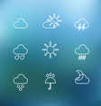 White forecast icons clip-art on color background vector