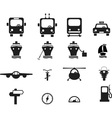 Set of transportation icons vector