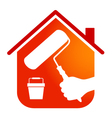 Painting houses business design vector