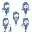 Five character business women vector