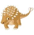 Cute ankylosaurus cartoon vector