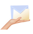 Hand and mail vector