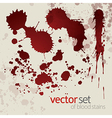 Splattered blood stains set 7 vector