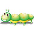 A green caterpillar toy vector