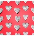 Paper hearts - seamless art craft pattern vector