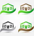 Simple house buildings icons - abstract real vector