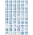 Universal outline icons vector