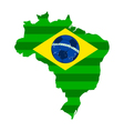 Soccer map and flag of brazil vector