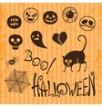 Set happy halloween vector
