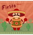 Mexican men on a retro background vector