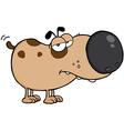 Dog cartoon mascot character vector