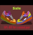 Sale shoes poster vector