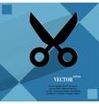 Scissors flat modern web design on a flat vector