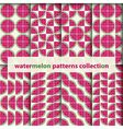 Watermelons seamless patterns vector