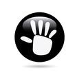 Hand design vector