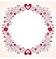 Hearts and flowers frame 3 vector
