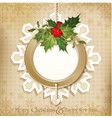 Vintage retro christmas background vector