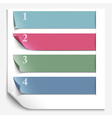 Paper design template for numbered paper banners vector